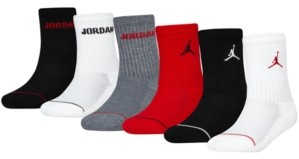 Jordan Little Boys 6-Pk. Crew Socks