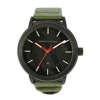 Armani Exchange Men's Maddox Stainless Steel Analog-Quartz Watch with Nylon Strap