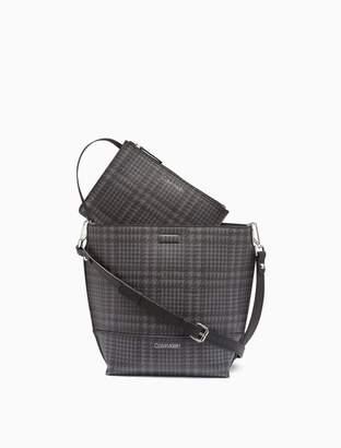 Calvin Klein Sonoma Glen Plaid Small Crossbody Bag + Zip Pouch