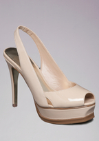 Bebe Zahara Natural Peep Toe Pumps