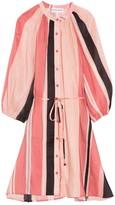 Apiece Apart Mini Hisa Dress in Sunset Papaya Stripe