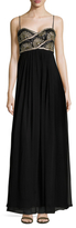 JS Collections Deco Embellished Chiffon Gown
