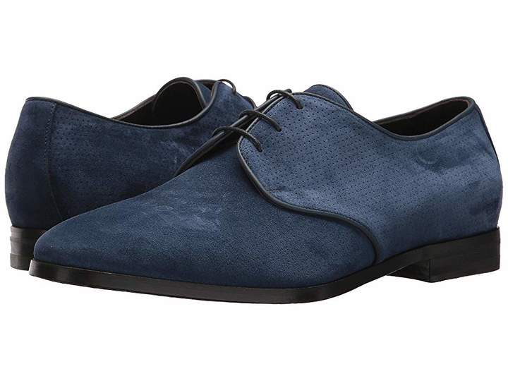 Canali Perforated Suede Oxford Men's Slip on Shoes