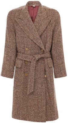 Gucci Double Breasted Wool Blend Coat