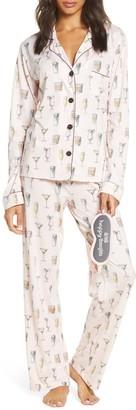 PJ Salvage Print Pajamas with Eye Mask