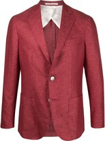 Barba single-breasted coated blazer