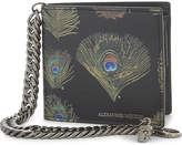 Alexander Mcqueen Peacock Leather Wallet With Chain
