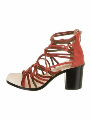 Rag & Bone Suede Gladiator Sandals Red