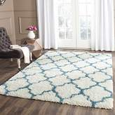 Safavieh Kids Shag Collection SGK569C Ivory and Blue Area Rug, 4 feet by 6 feet (4' x 6')