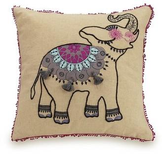Vera Bradley Dream Elephant Linen Throw Pillow