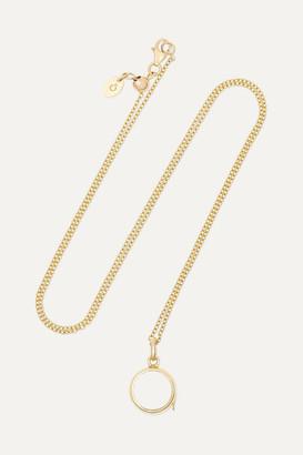 Loquet 14-karat Gold And Sapphire Crystal Locket Necklace