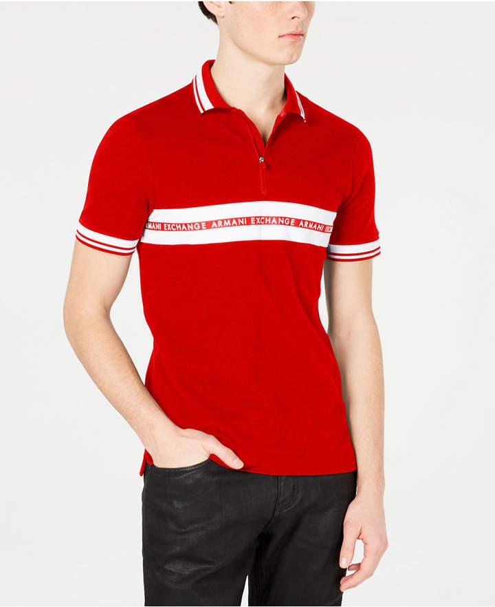 c96d90da Mens Armani Exchange Polo Shirt - ShopStyle