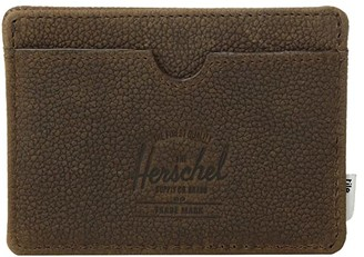 Herschel Charlie + Tile (Brown Pebbled Nubuck) Wallet Handbags