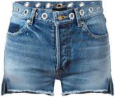 Saint Laurent eyelet denim shorts