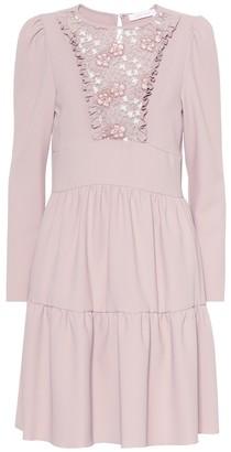 See By Chloã© Floral lace bib dress