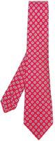 Kiton geometric print neck tie