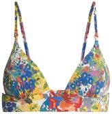 Stella McCartney Floral-print padded triangle bikini top