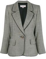 Saint Laurent Pre Owned 1990's striped slim jacket