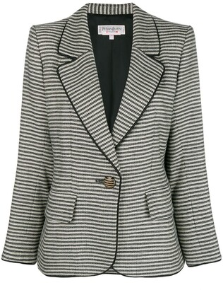 Yves Saint Laurent Pre Owned 1990's Striped Slim Jacket
