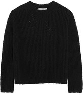 Vince Textured Stretch Merino Wool-blend Sweater - Black