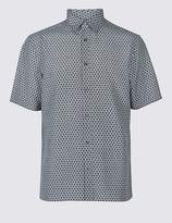 Marks and Spencer Geometric Print Shirt