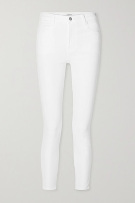 J Brand Alana Cropped High-rise Skinny Jeans - White