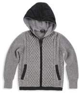 Diesel Boy's Korel Cable-Knit Zip-Up Hoodie