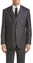 English Laundry Wool 3pc Vested Suit With Flat Front Pant.