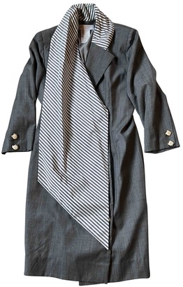 Jacques Fath Grey Wool Dress for Women Vintage