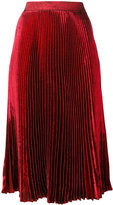 Christopher Kane lamé pleated skirt