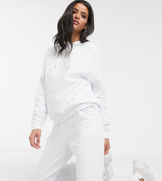 Asos DESIGN Tall tracksuit hoodie / slim jogger with tie in organic cotton