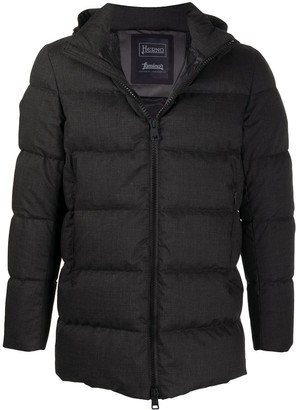 Herno Hooded Down-Feather Coat