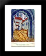 Art-Direct ArtDirect Vilno. Entrance to the Holy Trinity monastery. 20x24 Framed Art Print by Mstislav Dobuzhinsky