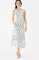 J. Jill Pure Jill Tie-Dye Print Dress