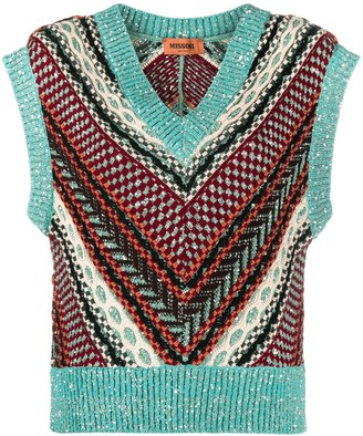 Missoni Chevron-Design Knit Top