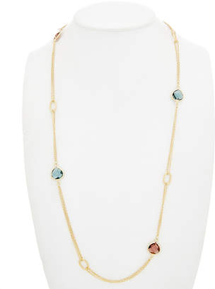 Rivka Friedman 18K Gold Clad Crystal 38In Necklace