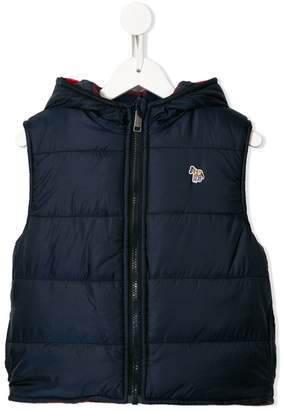 Paul Smith embroidered zebra padded gilet