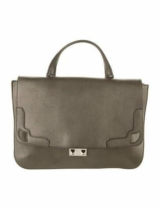 Cartier Suede-Accented Leather Satchel metallic