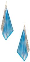 Alexis Bittar Crystal Encrusted Origami Inlay Drop Earrings