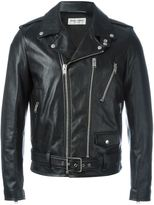 Saint Laurent leather biker jacket - men - Cotton/Lamb Skin/Cupro - 46