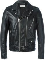 Saint Laurent leather biker jacket - men - Cotton/Lamb Skin/Cupro - 50