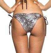 THE MESH KING COQUETA Brazilian Bikini Scrunch Bottom Wavy Sexy Teeny Swimsuit BUMBUM BROWN-MD
