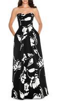 Decode 1.8 Sweetheart Floral Print Long Dress 183938