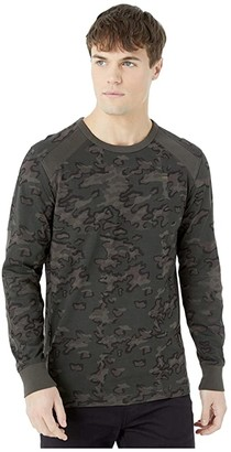 G Star G-Star Siphon Motac R Tee Long Sleeve (Dark Combat/Fearn AO) Men's Clothing