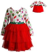 Dollie & Me Girls 4-14 Ornament Dress Set