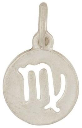 Mocha Virgo Zodiac Plate Sterling Silver Charm