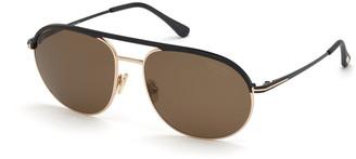 Tom Ford Men's GIO Polarized Aviator Sunglasses