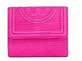 Tory Burch Fleming Embossed Mini Flap Wallet