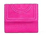Tory Burch Fleming Snake Mini Flap Wallet