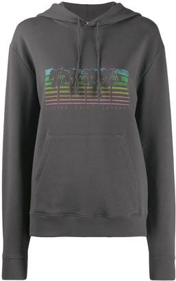Saint Laurent Malibu palm tree print hoodie